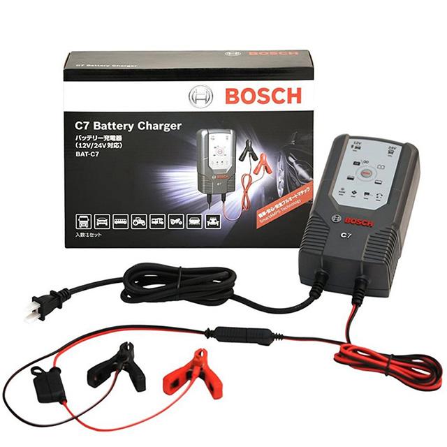 BOSCH C7 智慧型脈衝式電池充電器12V/24V 適用機車/汽車電瓶充電器
