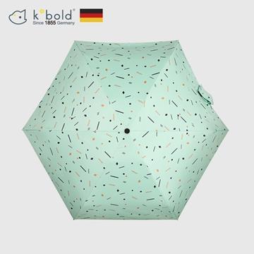 【德國kobold酷波德】抗UV蘑菇頭系列-6K超輕巧遮陽防曬 五折傘-淺綠