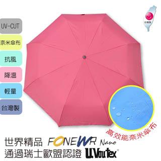 寶藏屋】福懋耐潑水一把好傘-就是粉紅(自動/防曬/輕量/速乾)