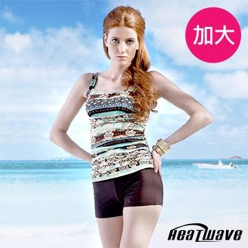 Heatwave 加大泳裝 三件式褲裝-珊瑚海-81977