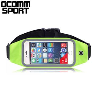 GCOMM SPORT 穿戴式音樂防汗水運動腰包5.7吋通用 螢光綠