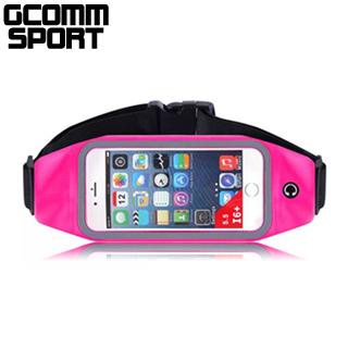 GCOMM SPORT 穿戴式音樂防汗水運動腰包5.7吋通用 玫紅色