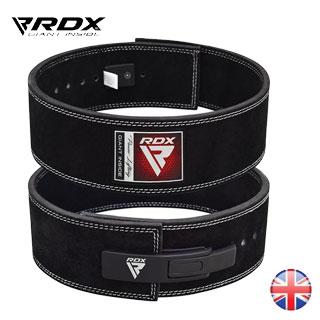 【英國 RDX】10mm 全真牛皮健身快扣腰帶、霸氣黑色、重訓腰帶/ 霸氣黑色