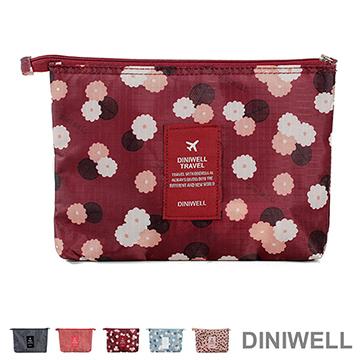 【JD】DINIWELL印花系列輕便隨身收納包 數碼包-紅色花朵