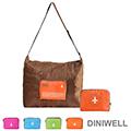 【JD】DINIWELL多功能單肩斜背可折疊行李箱拉桿收納包(40L)-橘色