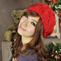Aimee Toff  冬日氣息麻花編織氣質貝蕾帽(紅)