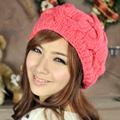 Aimee Toff  冬日氣息麻花編織氣質貝蕾帽(西瓜紅)