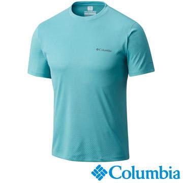 Columbia哥倫比亞酷涼快排UPF30短袖上衣-碧綠色UAE60840JP
