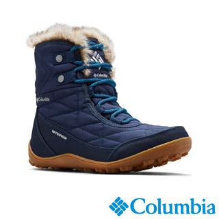 Columbia哥倫比亞 女款-OT防水保暖雪靴-深藍 UBL59610NY