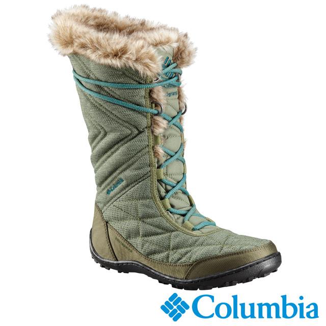 Columbia哥倫比亞 女款-OT防水保暖雪靴-苔綠色UBL59630LC