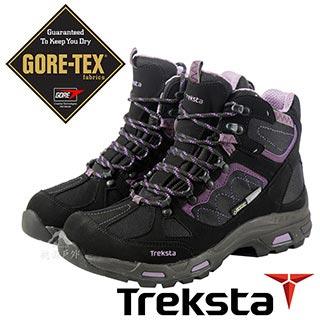 Treksta 女 Gore-Tex 防水中筒健行鞋 登山鞋『暗紫』KR17HW