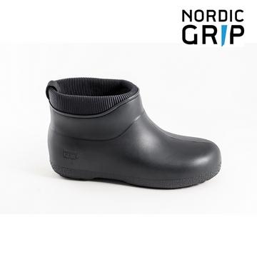 NORDIC GRIP 北歐防滑保暖雨靴 騎士黑