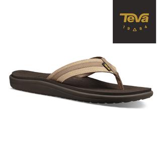 TEVA 美國-男 Voya Canvas Flip 經典織帶夾腳拖鞋 (卡其-TV1019051INCN)