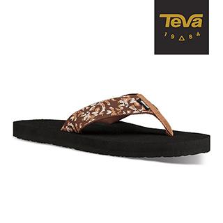 TEVA 美國-男 Mush II 寬版織帶夾腳拖鞋 (荊棘咖啡棕-TEVA4168BCRF)