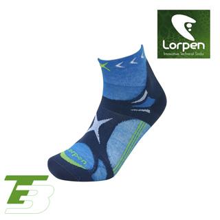 Lorpen T3 Coolmax越野慢跑襪 X3UM(I) 藍