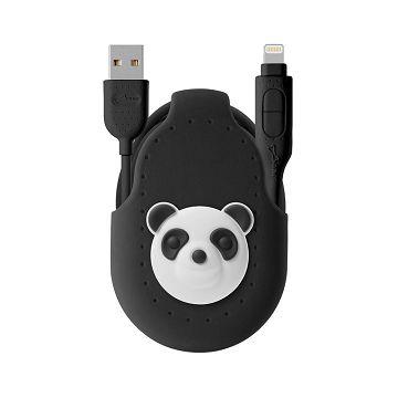 Bone / 二合一雙頭傳輸線 - 貓熊充電線 兩用線 microUSB APPLE官方認證 iPhone