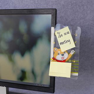【OSHI歐士】側邊留言板-柴犬米路加加油/螢幕留言板/便利貼留言板/手機充電座/手機架