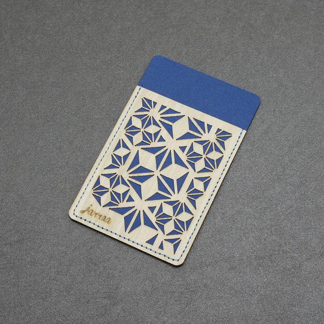jarraa 復古風手機背貼卡套 Crystal 灰藍色