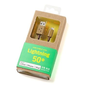 cheero阿愣lightning USB 蘋果i5/5S,i6/i6plus,iPad mini/air充電傳輸線:50公分/MFi認證