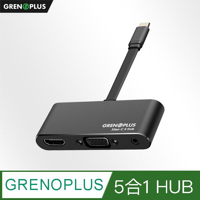 【Grenoplus】USB 3.0 Type-C 五合一多功能Macbook Hub 集線器-太空灰