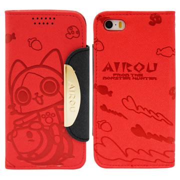Aztec 艾路貓 Apple iPhone5/5S 掀蓋式皮套 手機殼