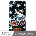 Apple iPhone5/5s 凱蒂貓 矽膠軟手機殼-星光單車