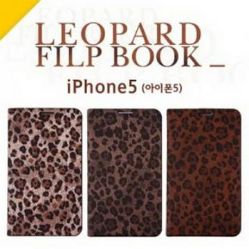 Editor Leopard Flip 時尚豹紋側開皮套 手機殼 iPhone 5 /5S(款式:03)