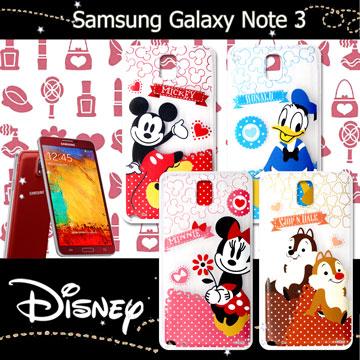 迪士尼授權正版Samsung Galaxy Note 3休閒點點透明軟式保護套 手機殼 (經典組)