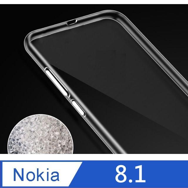 ★ TOP寶殼家★ For:Nokia8.1 極薄透TPU軟性保護殼-高透明