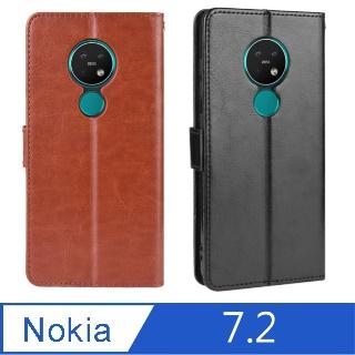 PKG Nokia 7.2 皮套-側翻皮套-經典商務款式