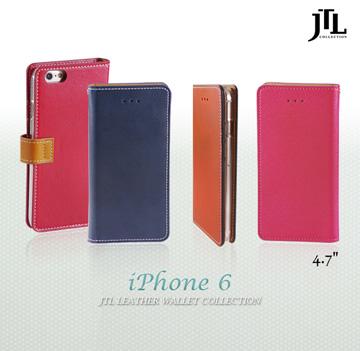 JTL iPhone 6 (4.7吋) 古著側掀式真皮皮套經典款