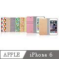 Araree iPhone 6 4.7吋 拼布真皮皮夾側掀保護套 (正韓公司貨)