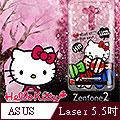【三麗鷗 Kitty凱蒂貓】ASUS Zenfone2 Laser 5吋 透明手機軟殼(糖果HI)