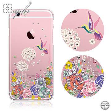 apbs APPLE iPhone6 plus / iPhone6s plus 施華洛世奇彩鑽手機殼-蜂鳥系列
