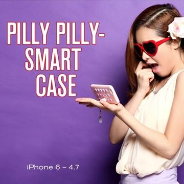 8thdays 馬卡龍計算機 側立支架 軟框手機殼 (粉紅蛇)│iPhone 6