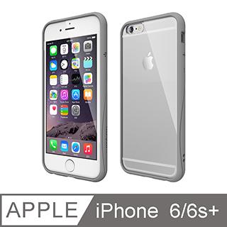 motomo iPhone6/6s Plus 5.5吋 Achrome 曲線保護框 灰色