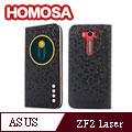HOMOSA ASUS Zenfone 2 Laser ZE500KL(5吋) 智慧視窗皮套-鑽石黑