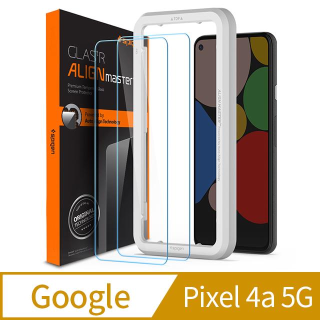 9H鋼化玻璃SGP / Spigen Pixel 4a 5G Align Master-玻璃保護貼(2入組)