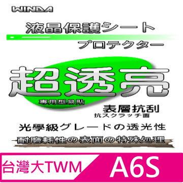 WINDA For: 台哥大TWM-A6S 專用型(光學級亮面抗刮+修補刮痕)螢幕保護貼