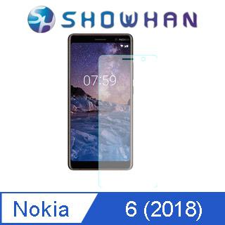 【SHOWHAN】NOKIA 6 (2018) 5.5吋 9H鋼化玻璃0.3mm疏水疏油高清抗指紋保護貼