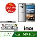 iMOS 宏達電 HTC one M9 PLUS 含正面上下段DotView(TS材質) 康寧 9H 強化玻璃 疏水疏油