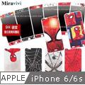MARVEL蜘蛛人經典版iPhone 6/6s(4.7吋)雙面強化玻璃彩繪保護貼