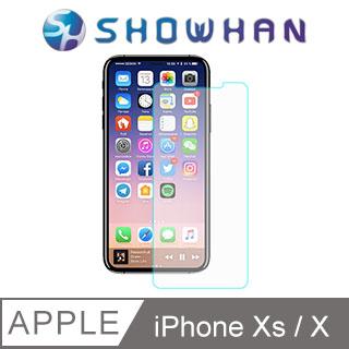 【SHOWHAN】Apple iPhone X (5.8吋) 9H鋼化玻璃貼 0.3mm疏水疏油高清抗指紋