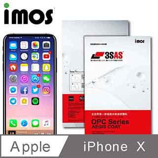 iMos APPLE iPhone X 3SAS 疏油疏水 螢幕保護貼(非滿版)