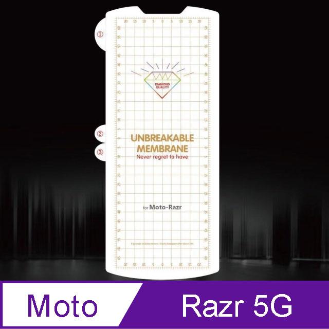 MOTO Razr 5G 軟性奈米防爆膜-螢幕保護貼(內+外)