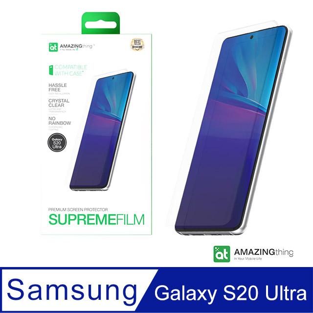 AMAZINGthing 三星 Galaxy S20 Ultra 滿版抗衝擊螢幕保護貼