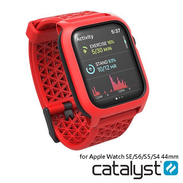 CATALYST APPLE WATCH S6/S5/S4/SE (44mm) 耐衝擊防摔保護殼(含錶帶)●紅色