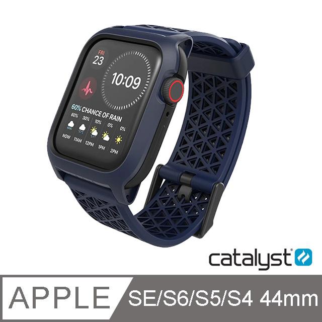 CATALYST APPLE WATCH S6/S5/S4/SE (44mm) 耐衝擊防摔保護殼(含錶帶)●藍色