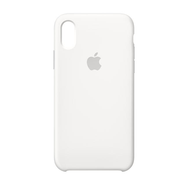 iPhone X 矽膠保護殼-白色