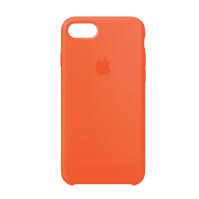 iPhone 8 / 7 矽膠保護殼-艷橙色